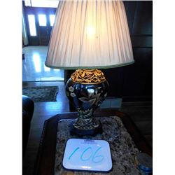 Table Lamp w/ Floral Pattern Base