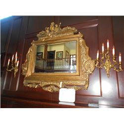 Gold Ornate Large Beveled Glass Mirror