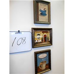 3 CAFE WALL ART SET