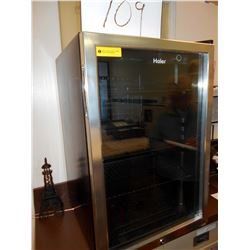 HAIER STAINLESS COUNTER TOP FRIDGE