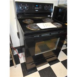 WHIRLPOOL ELECTRIC 4 BURNER STOVE
