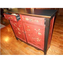 Ornate Hand Painted Cabinet