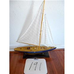 Wooden Model Sailboat