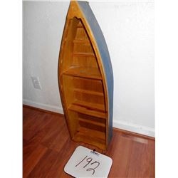 Boat Shaped Wooden Shelf