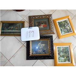 Set of 5 Framed Art Prints