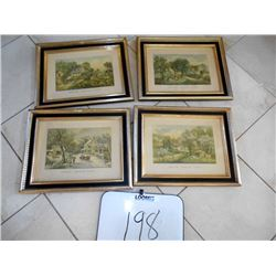 Set of 4 Framed Art Prints