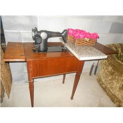 Singer Sewing Machine / Marble Top Table