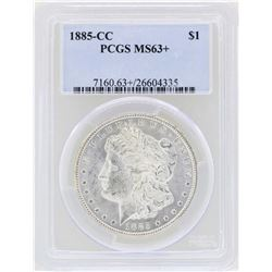 1885-CC $1 Morgan Silver Dollar Coin PCGS MS63+