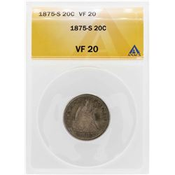 1875-S Twenty Cent Piece Coin ANACS VF20