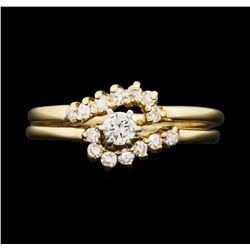 14KT Yellow Gold 0.40 ctw Diamond Wedding Ring