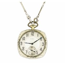 Elgin Vintage Pocket Watch with Attached Watch Fob