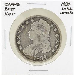 1834 Small Letters Capped Bust Half Dollar Coin