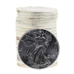 Roll of (20) 1993 $1 American Silver Eagle Brilliant Uncirculated Coins