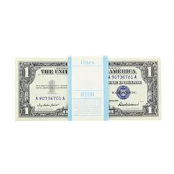 Pack of (100) 1957 $1 Silver Certificate Notes Uncirculated- See Notes