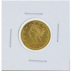 1883-S $5 Liberty Head Half Eagle Gold Coin