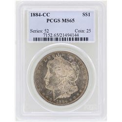 1884-CC $1 Morgan Silver Dollar Coin PCGS MS65