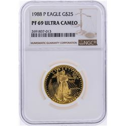 1988-P $25 American Gold Eagle Coin NGC Graded PF69 Ultra Cameo