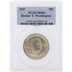 1947 Booker T Washington Memorial Commemorative Half Dollar Coin PCGS MS66