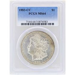 1883-CC $1 Morgan Silver Dollar Coin PCGS MS64