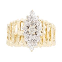 14KT Yellow Gold 0.25 ctw Diamond Ring