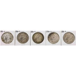 Set of 1881-O to 1885-O $1 Morgan Silver Dollar Coins