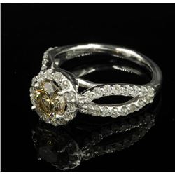 14KT White Gold 2.03 ctw Natural Round Cut Diamond Engagement Wedding Ring