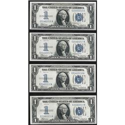 Lot of (4) Consecutive 1934 $1 Silver Certificate Notes