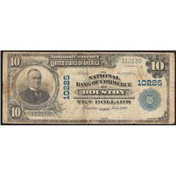 1902 $10 National Bank of Commerce of Houston National Currency Note CH# 10225