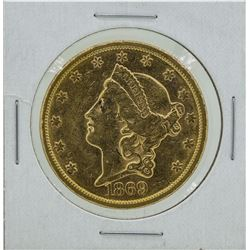 1869-S $20 Liberty Head Double Eagle Gold Coin