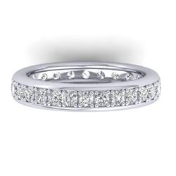 1.33 CTW Certified VS/SI Diamond Eternity Band Ladies 14K White Gold - REF-98A5V - 30327