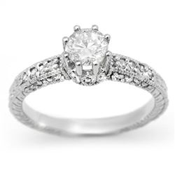 1.0 CTW Certified VS/SI Diamond Solitaire Ring 18K White Gold - REF-129H3M - 13701