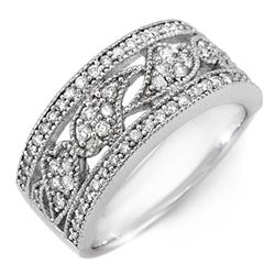 0.75 CTW Certified VS/SI Diamond Ring 10K White Gold - REF-66R7K - 11526