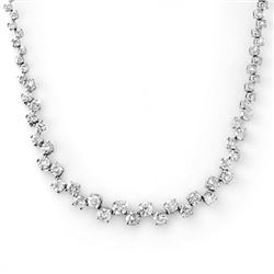 10.0 CTW Certified VS/SI Diamond Necklace 14K White Gold - REF-569A9V - 11726