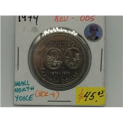 1974 Canada One Dollar Small North Yoke rev-005