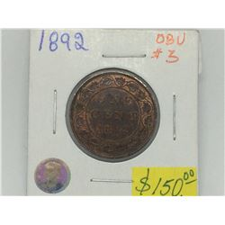 1892 Obv-3 Canada Large Cent