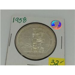 1958-1858 Canada Commemorative Silver Dollar