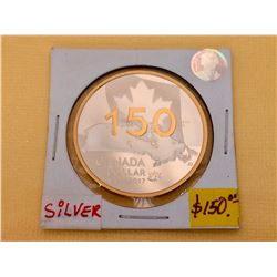 2017 (1867) Canada 1$ Proof Dollar-150 th Anniversarry of Canada-Pur Silver