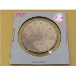 1981 Canada Proof Dollar