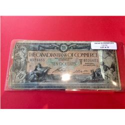1917 Canadian Bank of Commerce 10 Dollar Banknote, 16-04-12a