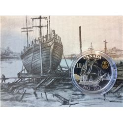 2012 Canada Proof 10 Dollars Coin-HMS Shannon (1812) Pur Silver-No Tax