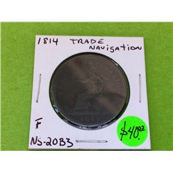 1814 Trade Navigation One Penny Token NS-20b3