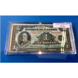 1935 Banque du Canada French Note Osborne Towers BC-2-Light Blue Tint