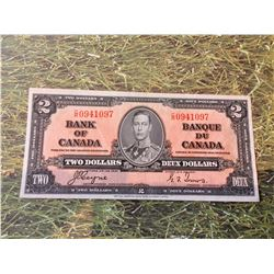 1937 Bank of Canada Two Dollar Note UNC BC-022c Coyne Towers