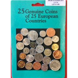 European Genuine Coins from 25 Countries