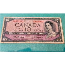 1954 10$ Bank of canada Devil's Face, Coyne Towers BC-32b