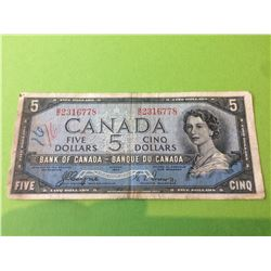 1954 5$ Bank of Canada Devil's Face, Coyne Towers BC-31a
