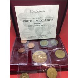 2002 United Kingdom Pattern- Euro Coin Collection