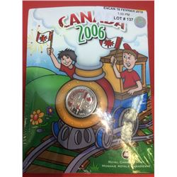 2006 Canada 25-cent Coloured with Crayola Pack