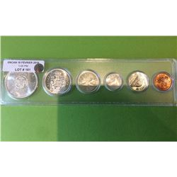 1964 Canada Silver coins set in whitman plastic