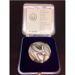 1976 Vintage Sterling Olympic Games Medaillion 68 gr